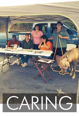 The Volunteers from Mane Solutions raising awareness for the riding program in Anderson, South Carolina